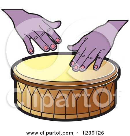 Clipart of a Drum and Hands 3.