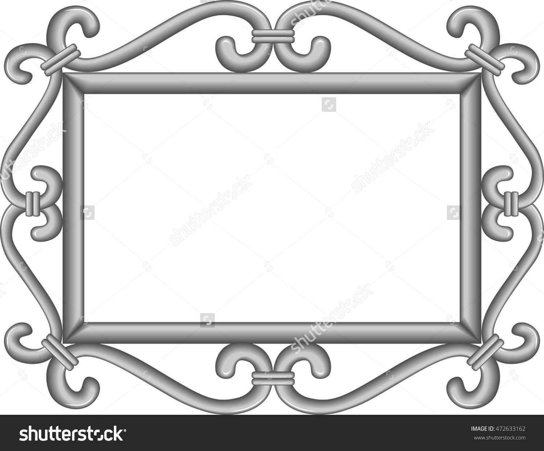 Hand Forged Vintage Metal Frame. Vector Illustration..