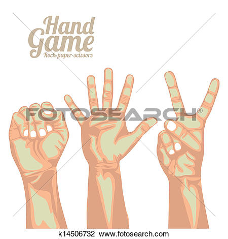 Clipart of hand game k14506732.
