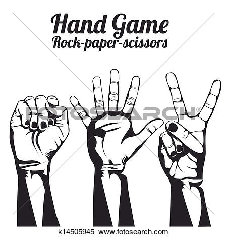 Clipart of hand game k14505945.