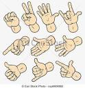 Hand gesture clipart.