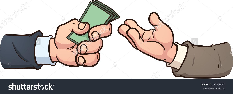 Hand Giving Money Vector Clip Art Stock Vector 170456081.