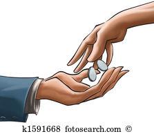 Hand giving money Stock Illustrations. 558 hand giving money clip.