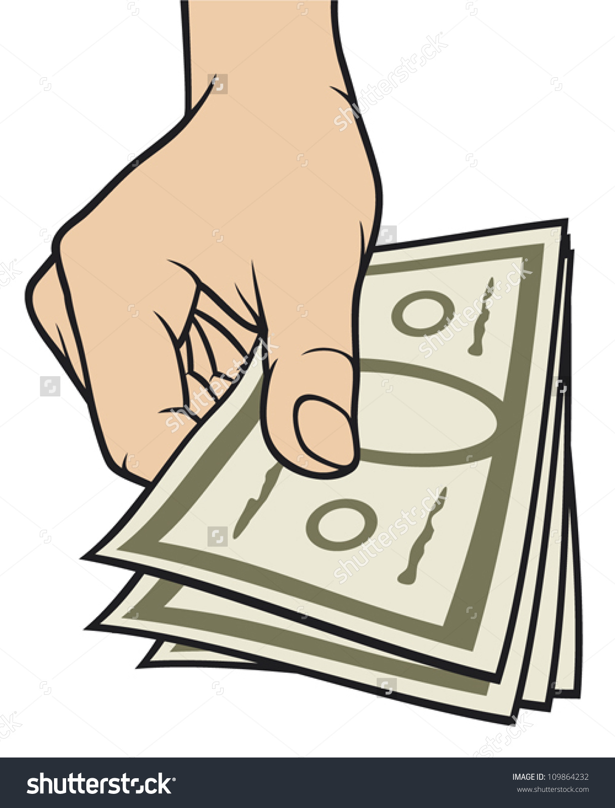 Hand Giving Money Stock Vector 109864232.