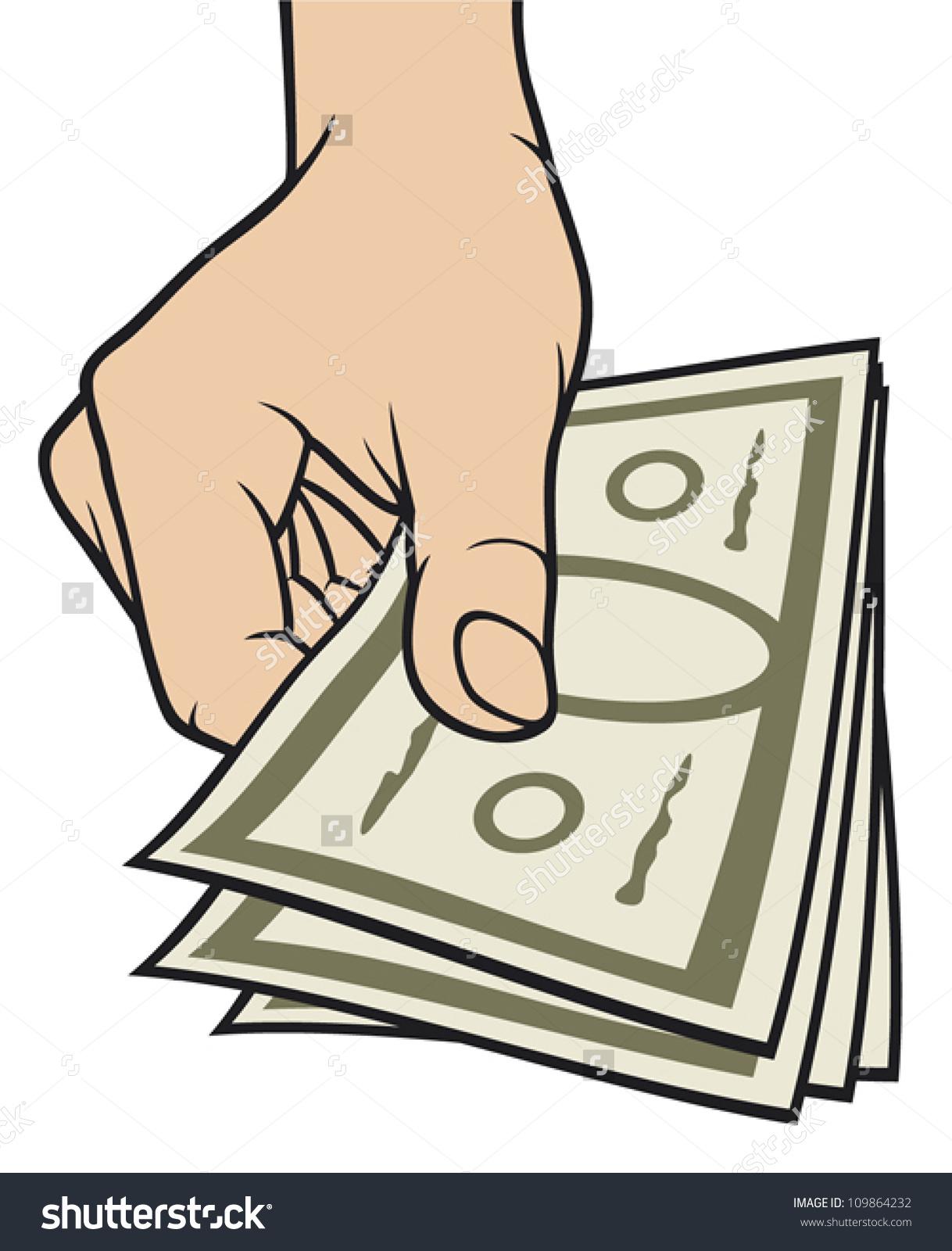 Hand Giving Money Stock Vector 109864232.