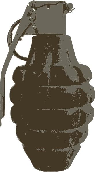 Hand Grenade clip art Free vector in Open office drawing svg.