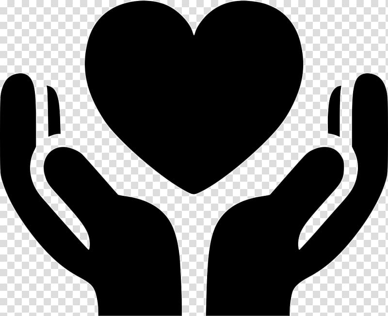 Computer Icons Hand heart Share icon, heart transparent background.