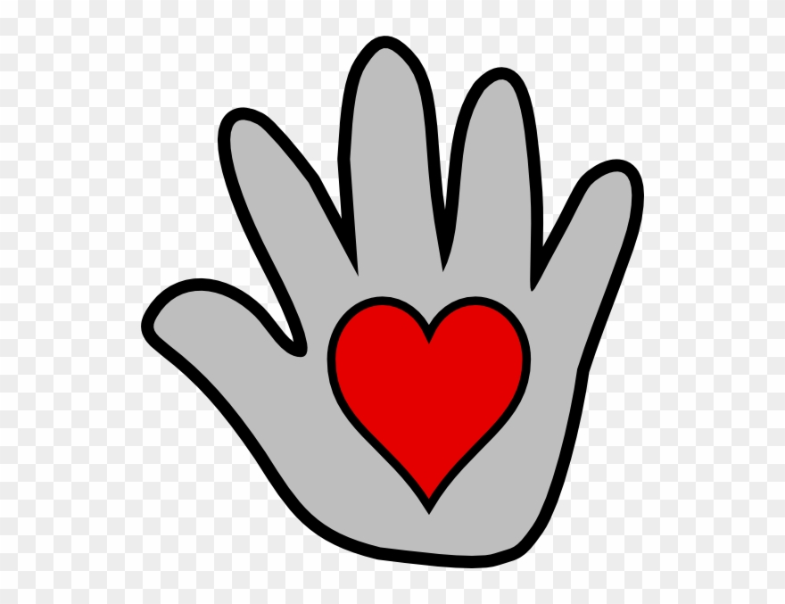 Banner Stock Handprint Heart Clipart.