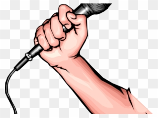 Mic Clipart Hand Holding Microphone.