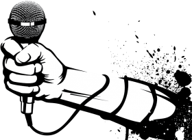 Download hand holding microphone clipart png.
