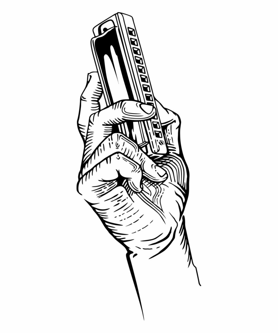Hand Holding Book Png Hand Holding A Harmonica.