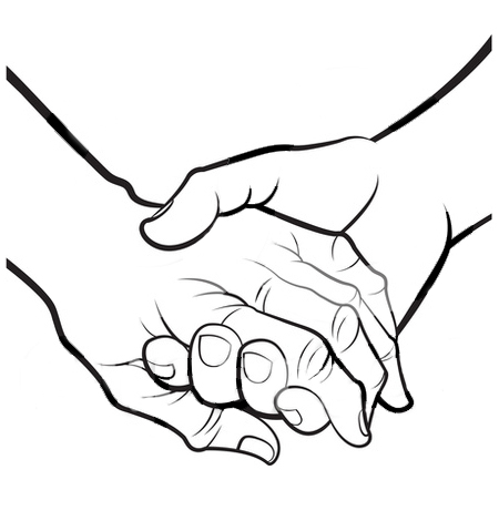 Holding hands clipart #5