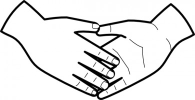 Hand holding clip art.
