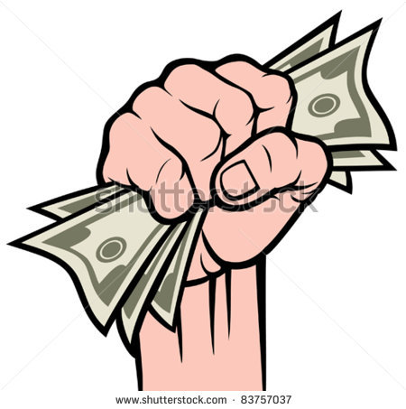 Hand Holding Money Clipart.
