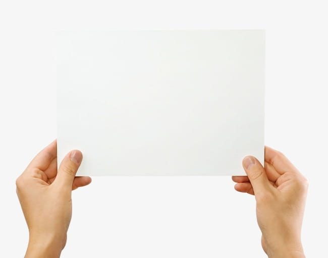 People holding paper PNG clipart.