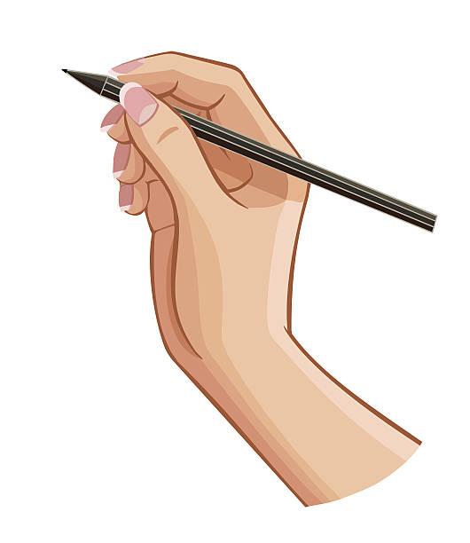 Hand Holding Pen Clipart.