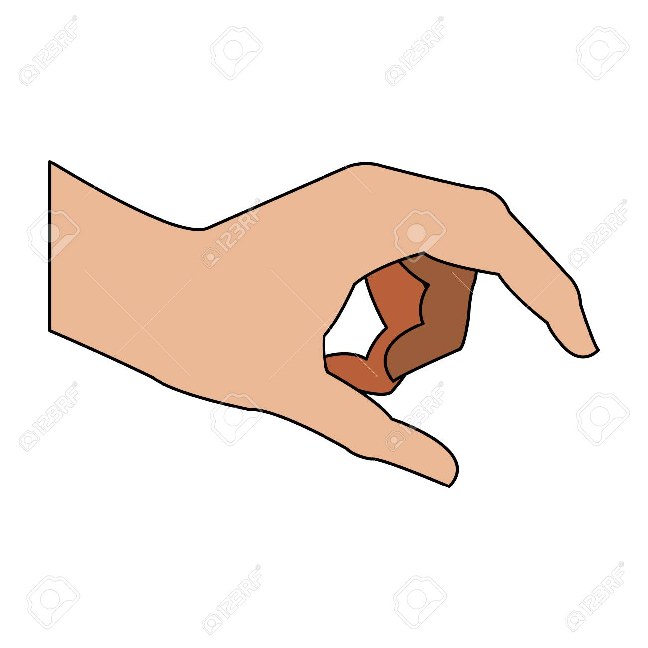 Hand holding something icon vector illustration graphic design.