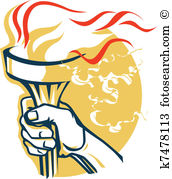 Hand flaming torch Clipart and Illustration. 281 hand flaming.