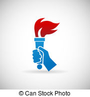 Hand holding burning torch Vector Clip Art EPS Images. 52 Hand.