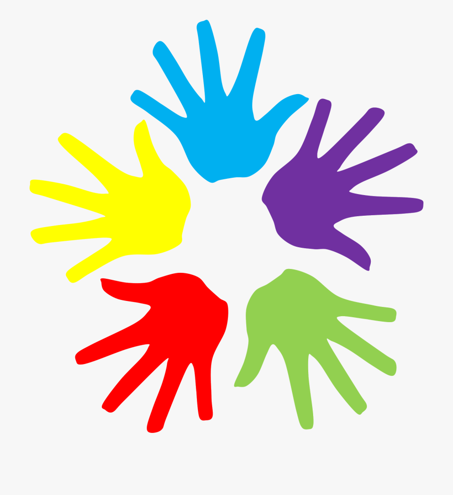 Trend Colorful Hands Clipart.