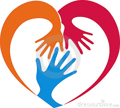 Heart in hand clipart.