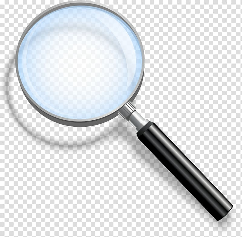 Magnifying glass illustration, Magnifying glass.
