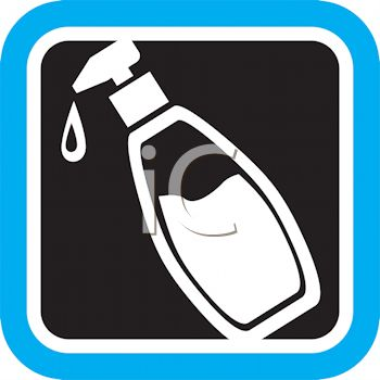 Hand Lotion in a Pump Dispenser Icon.