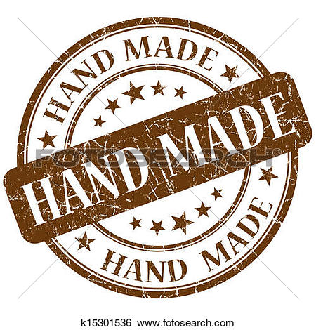 Stock Illustrations of Hand Made Stamps Showing Original Handmade.