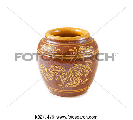 Stock Images of Rustic handmade pot k8277476.