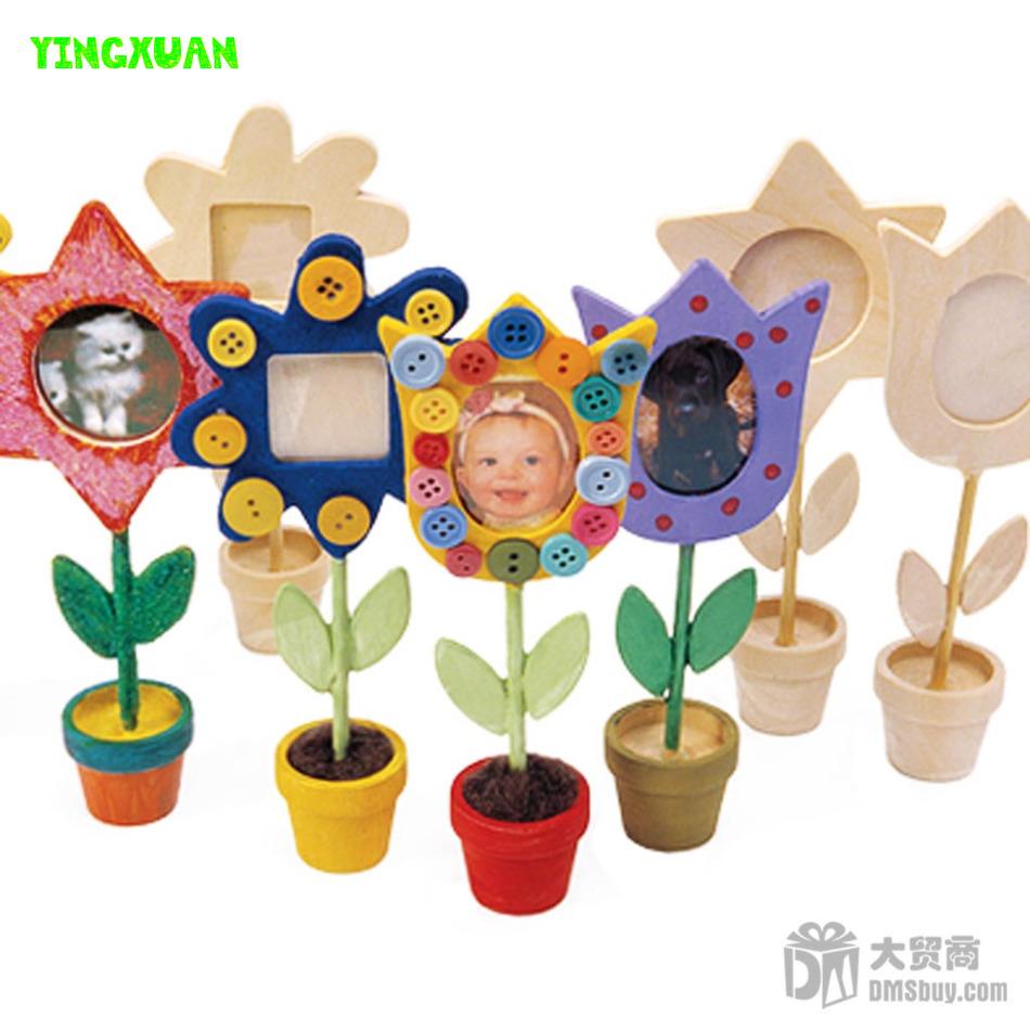 Aliexpress.com : Buy 6 pieces Handmade DIY Child Painting Wooden.