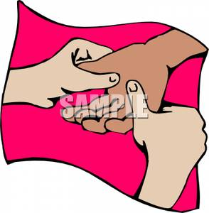 A Hand Massage Clipart Picture.