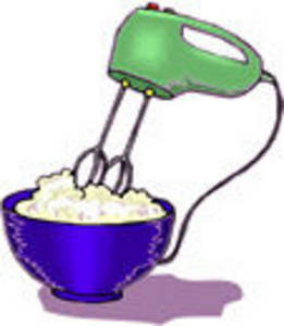Clipart Picture of a Hand Mixer Mixing Batter.