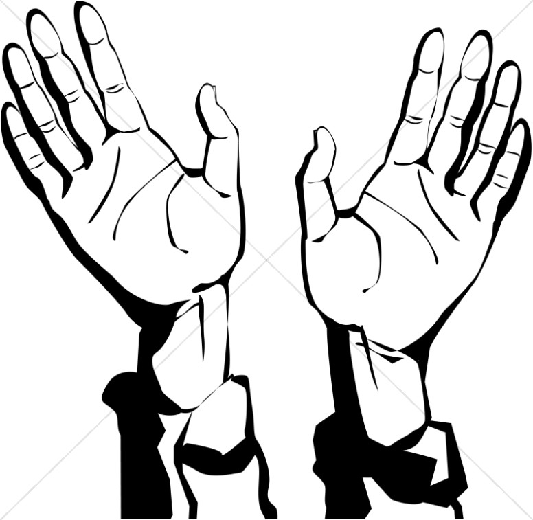 Hand Of God Blessings Clipart.