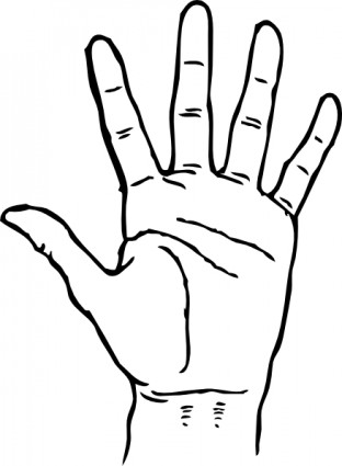 Hand Palm Facing Out clip art.