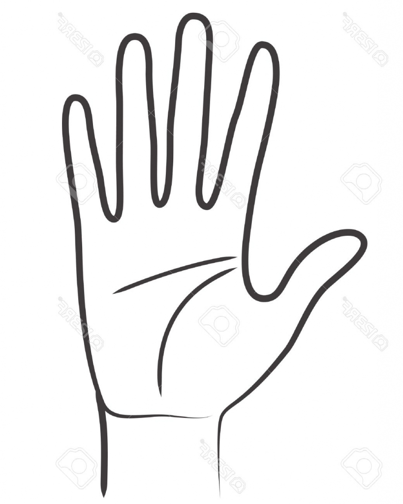 Outline Of A Hand.