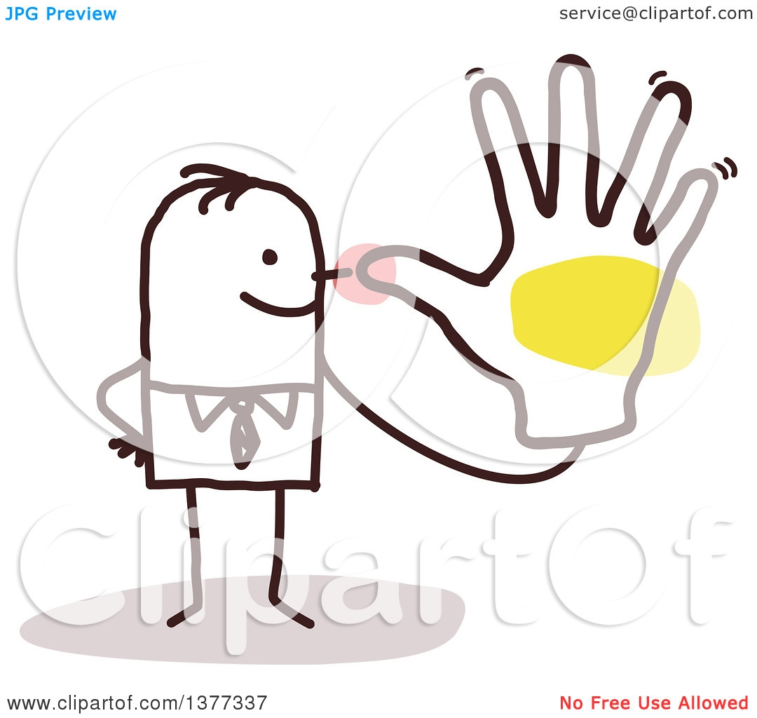 Hand over nose clipart.