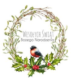 Merry And Bright. Watercolor Bouquets and Wreaths, Christmas.