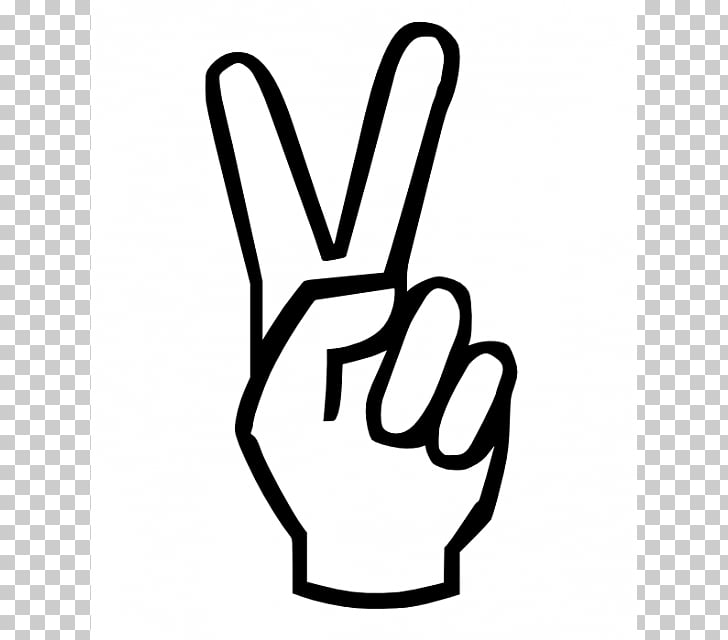 V sign Peace symbols Coloring book Hand , Cartoon Peace Sign.