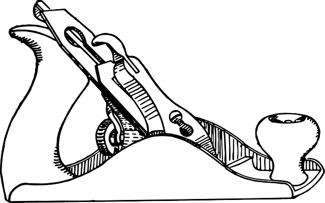 Free photo Tools Hand Plane Drawing Outline Surface Hardware.