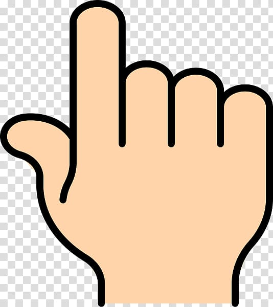 Person\'s right hand illustration, Index finger Pointing.