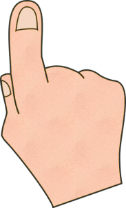 Pointing Hand Clip Art Download.