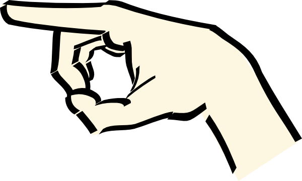 Hand Pointing Clip Art at Clker.com.