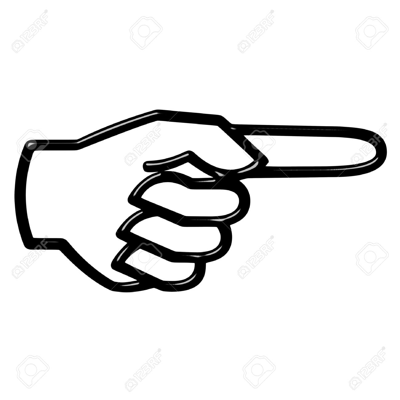 Hand pointing right clipart.