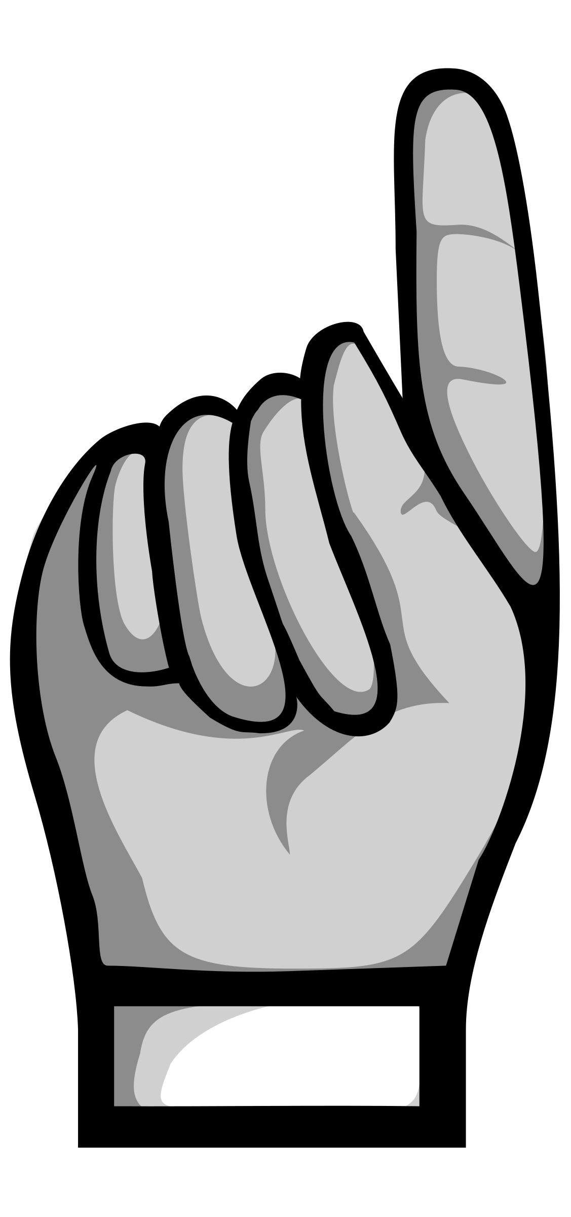 Up Hand Pointing Clipart.