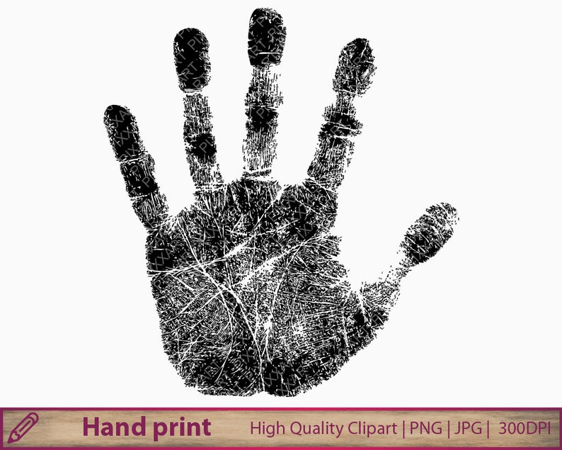 Hand print clipart, handprint clip art, fingerprint , scrapbooking,  commercial use, digital instant download, jpg png 300dpi.