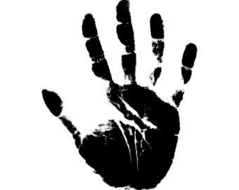 Handprint svg file.