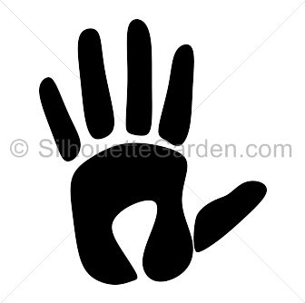 Handprint silhouette clip art. Download free versions of the image.
