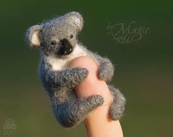 Felted sloth cute sloth needle felt animals sloth gifts.