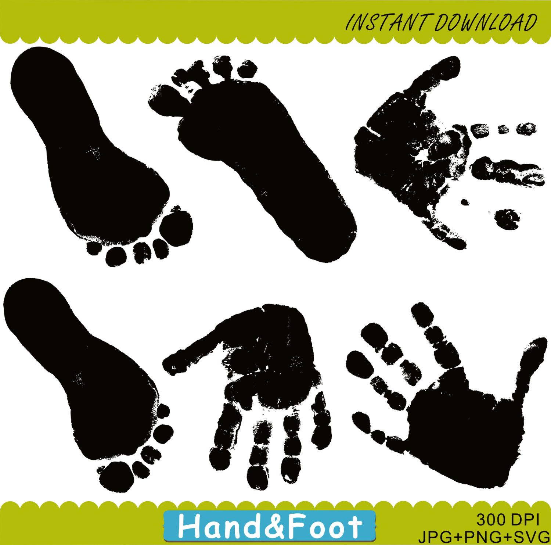 Handprints & FootPrints Clipart, Hand Prints Clipart, Handprints.
