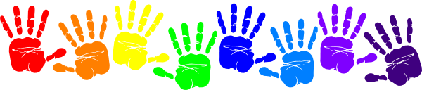 Handprint Clipart Border.